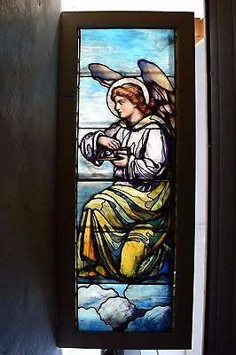 "+ 100 Year Old ""Angel"" Stained Glass Window by Lamb Studios + Tiffany style (#3)"