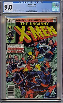 Uncanny X-Men #133 CGC 9.0 VF/NM Wp Wolverine Hellfire Club Marvel Comics 1980