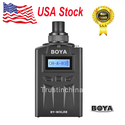 BOYA BY-WXLR8 UHF Wireless XLR Transmitter for BY-WM8 BY-WM6 BY-WHM8 Mic IN US