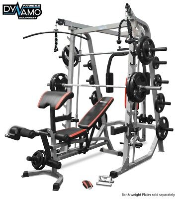Home gym Smith Machine Cable cross over Fid weight Bench For gym fitness