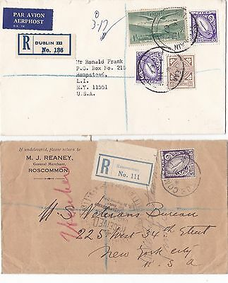 CF2)Ireland, 1930 - 1965 nice batch of 15 pre - decimal commercial covers to USA