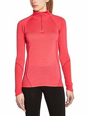 Smartwool, Maglietta Donna W NTS 195 Zip T, Rosso (Punch), S (q1S)