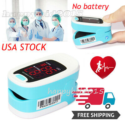 Easy@Home Fingertip Pulse Oximeter with OLED Display in 6 Modes.free Case.FDA