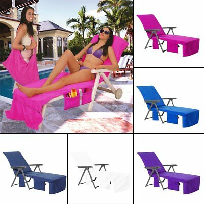 UK Mate Beach Towel Lounger Chair Cover Lounger Sun For Holiday Lounge Pockets