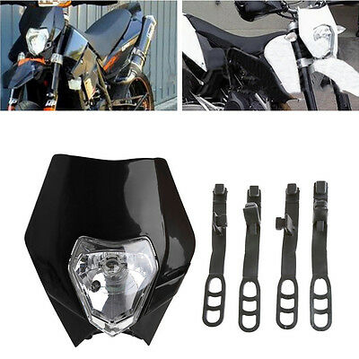 Motorcycle Bike Motocross Universal Headlight BA20D Bulb For KTM SMR Headlamp