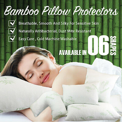 Bamboo Standard/European/V Shape/King Size/Pregnancy/Body Pillow Protectors