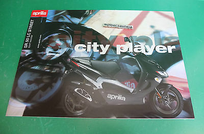 Aprilia Sr50 Lc Fold Out Scooter Racing Catalogo Brochure Depliant Catologue