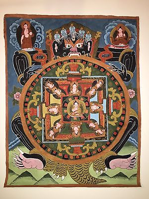Thangka Tibetan Antique Silk Painting Authenticity With A Government Seal