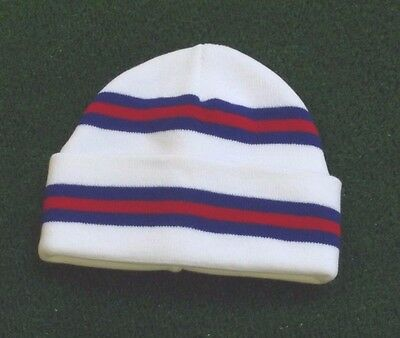 Rangers Colours Retro Bar Hat - White,Royal & Red - Made in UK