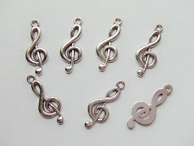 7pz charms ciondoli musica nota  colore argento tibet  26x10mm