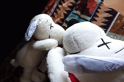 With Pretty Scarf ! UNIQLO × JOE KAWS × PEANUTS SNOOPY Plush S&M size set of 2