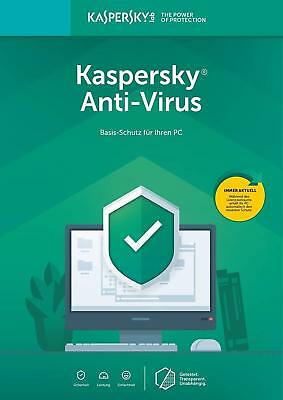 Kaspersky Antivirus Security 2019 1PC Geräte 1 Jahr Download Lizenzkey