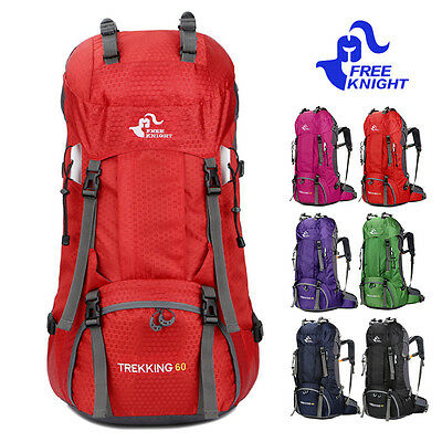 60L Outdoor Sport Camping Hiking Climbing Large Capacity Bag Waterproof Backpack