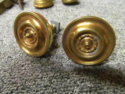 Pair of  - ANTIQUE - CUPBOARD / DRAWER KNOBS – ORIGINAL – BRASS  -DD203-
