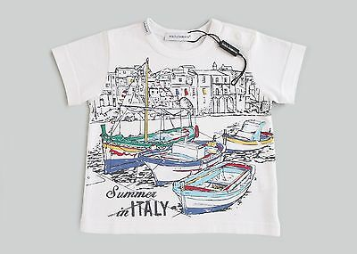 Dolce & Gabbana D&g Baby Boys 'summer In Italy' T-Shirt *3-6 Months* New Rrp £53