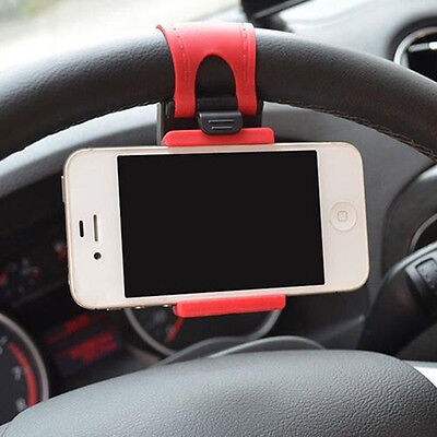 New Universal Car Steering Wheel Clip Mount Cradle Holder Stand for Cell Phone