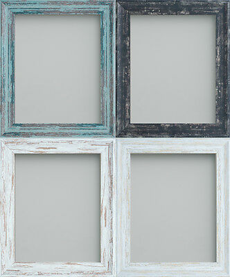 Rustic Picture Photo Frames Coal, Driftwood, Rustic White & Rustic Blue