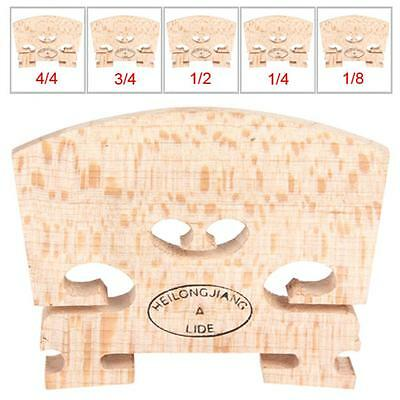 Regular Type 1/8 and 1/4 and 1/2 and 3/4 and 4/4 Size Maple Wood Violin Bridge