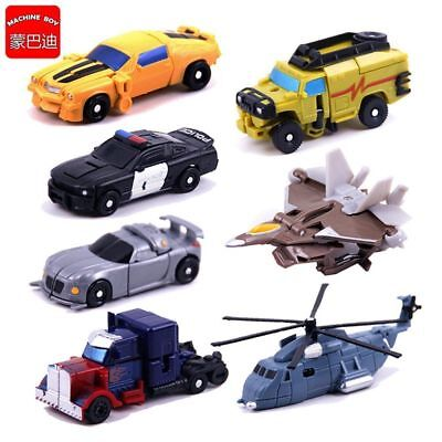 1set of 7 Transformers Bumblebee Optimus Prime Vehicles Autobots Boys Toy Gift