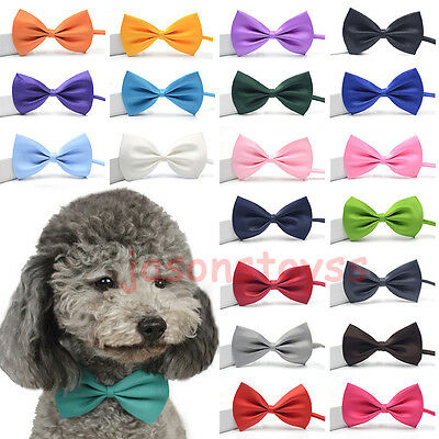 1 - 50 Dog Puppy Cat Bow Tie Fashion Pet Necktie Elegant Bowknot Collar Clothes