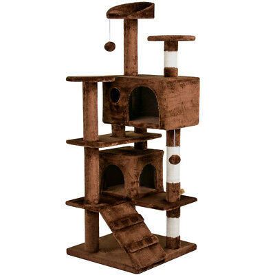 """Deluxe 53"""" Cat Tree Tower Toy Scratcher Furniture Scratching Post Pet Kitty Play"""