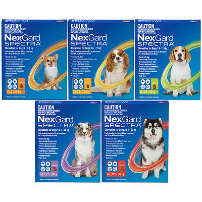 NexGard Spectra For Dogs All in 1 Tick Worm & Flea Treatment Nexguard Spectrum