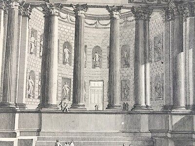 PIRANESI G.Battista.1750  Acquaforte antichi Romani con Colonne.ROMA