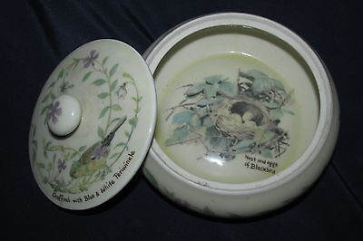 Webb & Bower Ceramic Round Box The Country Diary Collection Birds & Nests 1977