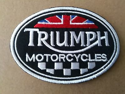 Triumph Sew Or Stick On Oval Patch