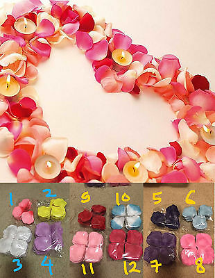 500 1000 Rose Petals Silk Fake Artificial Flower Wedding Decoration