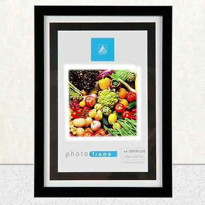 A4 Frame Photo Picture Certificate Wall & Desk Mountable Black Or Silver*! New t