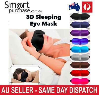 3D Travel Sleeping Aid Eye Mask Blindfold Shield Sleep Eyepatch Shade Cover S1