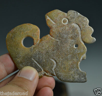 Excellent Ancient Chinese Hongshan Culture Nephrite Jade Animal Shaped Pendant