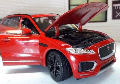 Jaguar F Pace 4x4 V6 Red Welly 1:24 Scale Diecast Detailed Interior Model 2016