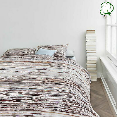 100% Cotton Tell Natural Quilt Cover Set by At Home - QUEEN KING Super King