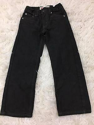 LEVI'S 505 Youth Boys Regular Black Straight Leg Denim Jeans 5-6years Sz 6 Slim