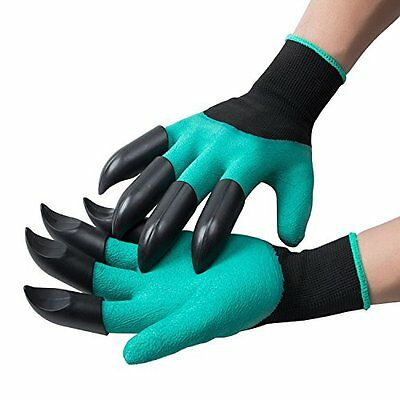 Garden Genie Gloves, OUNNE With Claws for Digging & Planting, Claws on EACH Hand