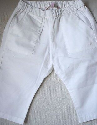Bonpoint Baby Ivory Cotton Trousers 12 Months