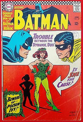 Batman 181 DC Silver Age 1966 First appearance of Poison Ivy