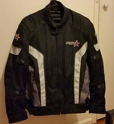 RST Mens Vented Motorcycle Jacket - Black -Summer Mesh Road Street Touring-Small