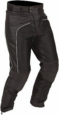 Buffalo Coolflow Black Textile Mesh Summer Motorcycle Trousers New £64.99!!