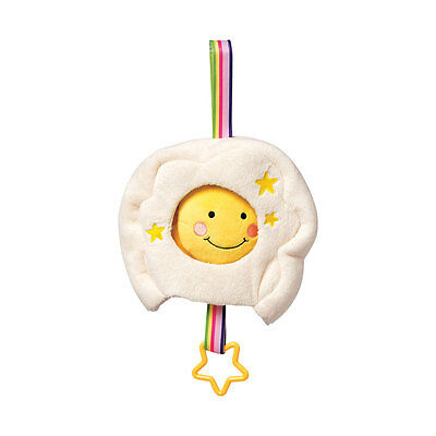 Lullaby Sun in Cloud Musical Baby Pull Toy Teething Ring for Crib Stroller