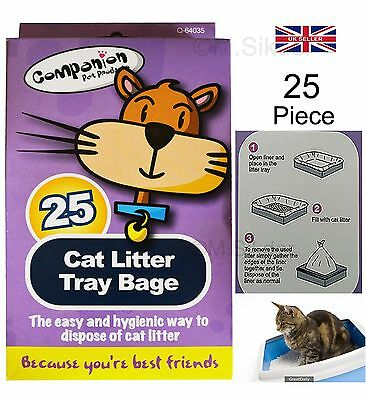 CAT Litter Tray Liners  Pet Waste Disposable Bag Kitten Hygienic New-25/50/100