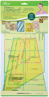 Trace 'n Create Quilt Templates By Nancy Zieman Grandmother's One Patch Collecti