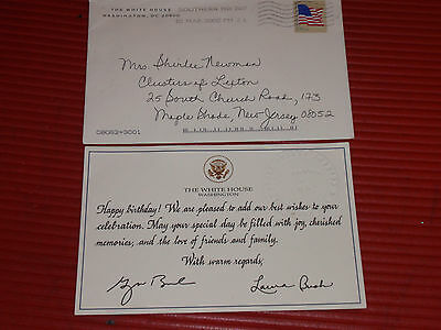 White House Christmas Card 2008 President George W Bush Laura – Birthday Card from White House