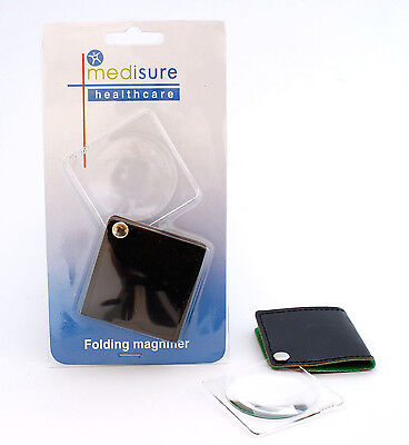 Medisure Folding Magnifier - Pocket Compact Small Magnifying Glass - 1, 2 or 3