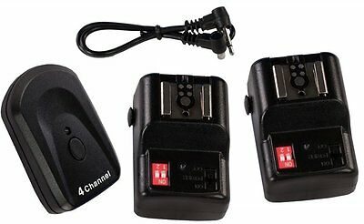 NPT-04 4 Ch Wireless Hot Shoe Flash Trigger and 2 Receivers - Brand New!