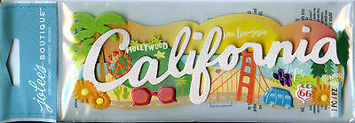 "Jolee's Boutique ""CALIFORNIA"" Dimensional Scrapbooking Sticker - X20"