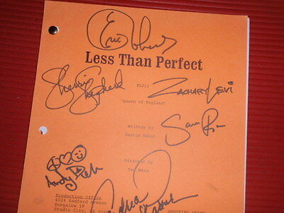 "Vintage Shooting Draft Script  2002 Tv Sitcom "" Less Than Perfect ""   Signed"