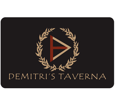 Demitri's Taverna Gift Card  - $25 $50 or $100 - Email Delivery